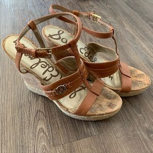 Sam Edelman Leather Wedge Sandal